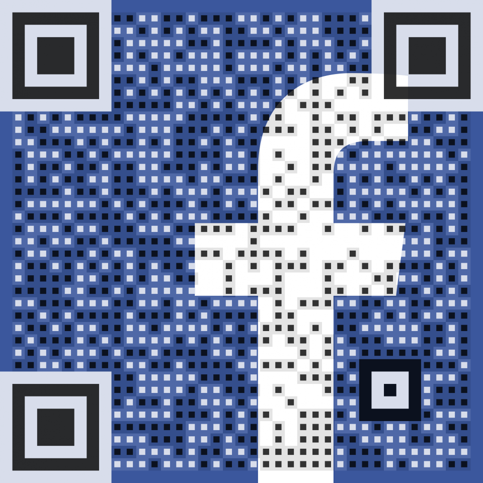 Vanity QR Code for @arqrcode on Facebook